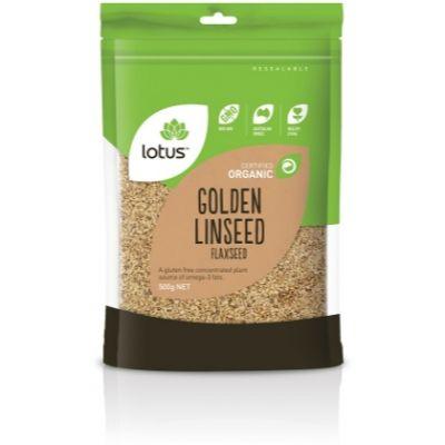 Lotus Organic Golden Linseed 500gm