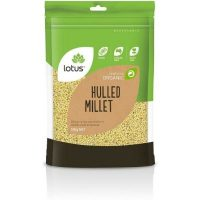 Lotus Organic Hulled Millet 500g (Local)